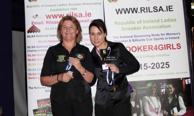 Paula Judge Retains her Dublin Open Ranking Title at D'Arcy McGees Spawell