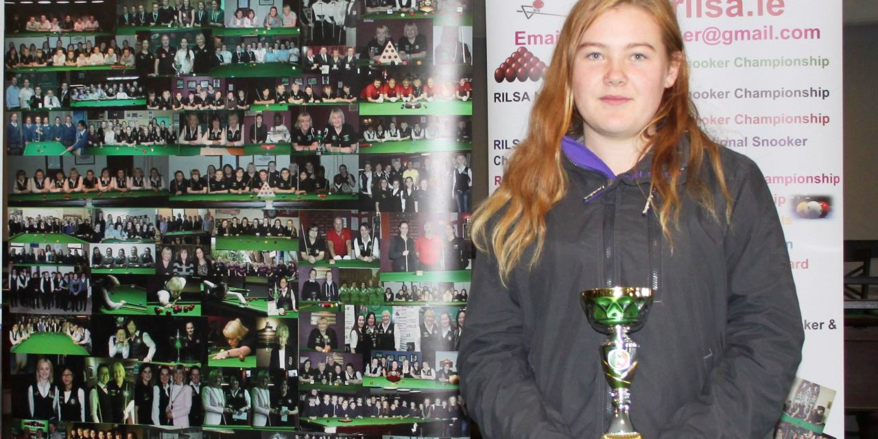 Chloe Hutton from St Laserians Carlow is the 2019 RILSA National Special Needs Snooker Champion