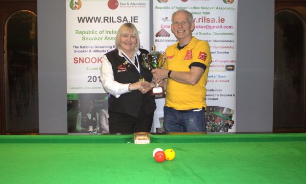Annette Newman Wins Inaugural 100 Up National Billiards Championship at the RILSA Academy Sharkx Newbridge