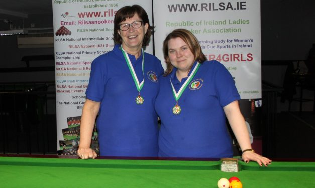 Joanna Ward Wins Intermediate Billiards Ranking 2 at the RILSA Academy Sharkx Newbridge