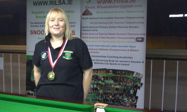 Louise Jordan Wins RILSA National 6 Red Snooker Championship @ the RILSA Academy Sharkx Newbridge