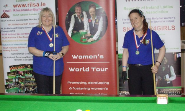 Annette Newman Wins 3 in a row taking the Griffith Masters Billiards Event in Newbridge