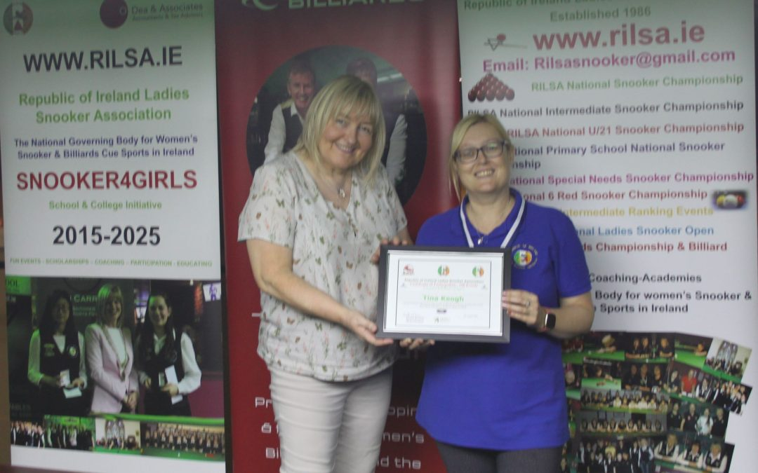 Tina Keogh Receives Participation Certificate for 100 Events
