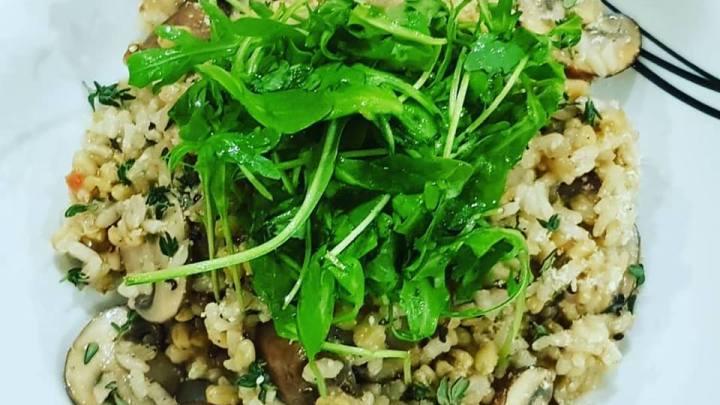 Mushroom & Thyme Quinoa Risotto