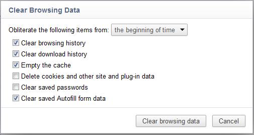 Eliminare Chrome storia-