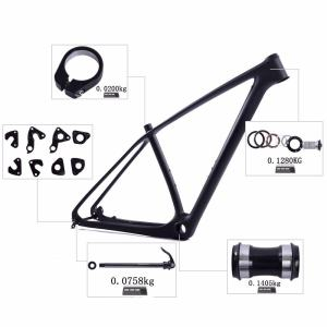 Carbon Fiber MTB Hardtail Frame | 29er Carbon Mountain Bike Frame–Quick Release and Thru Axle Interchangeable