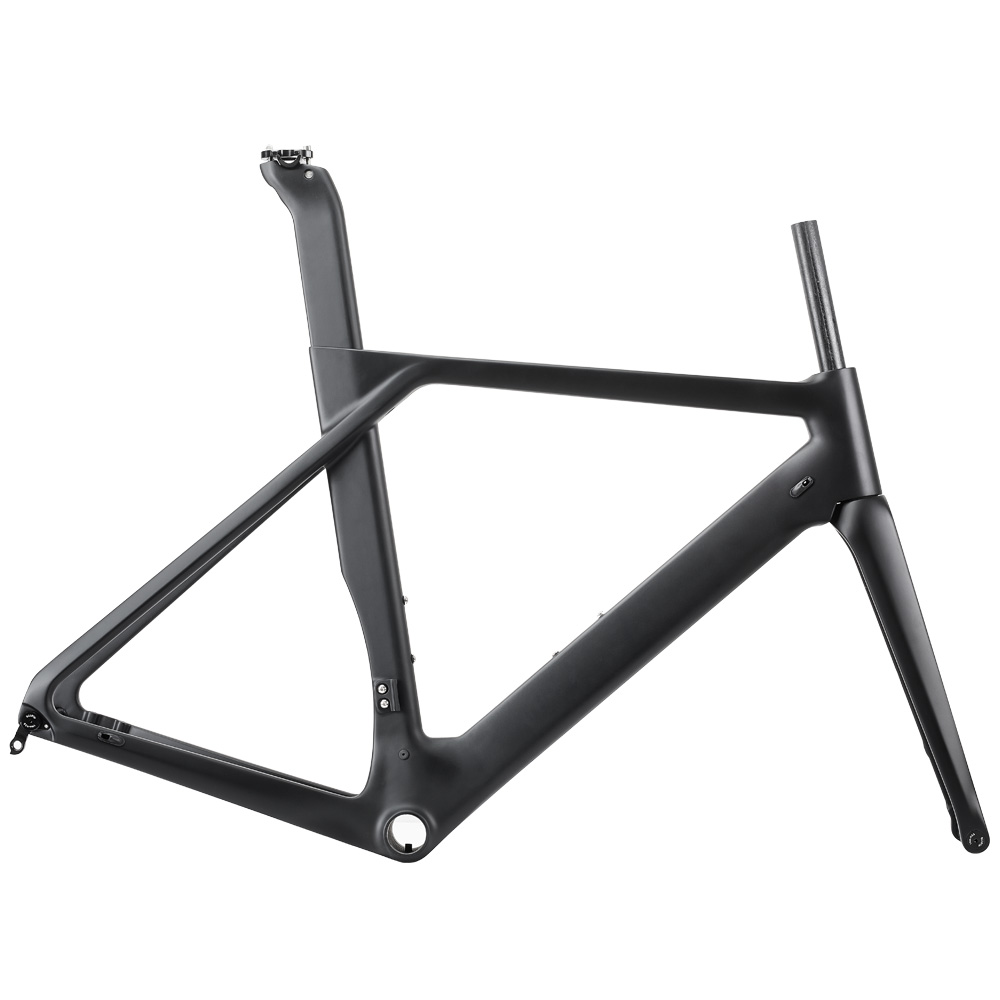 Rinasclta aero disc brake carbon road bike frame UD Matte