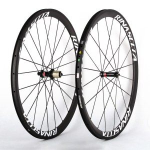 Carbon Fiber Road Bike Clincher Wheelset | Customzied painting available