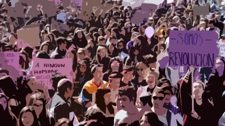 Manifestación feminista Podemos