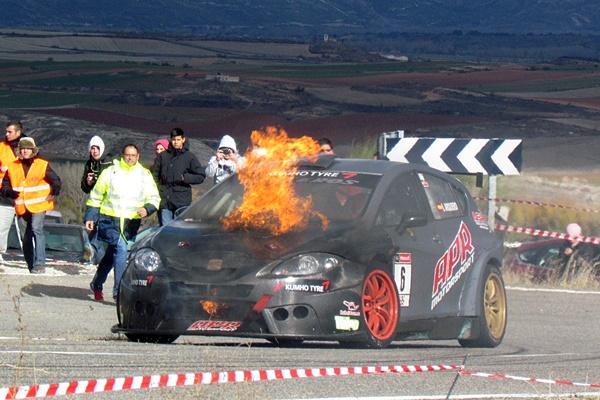 Ismael Arquero tardó en parar a pesar del fuego