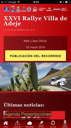 App Rallye Adeje 2016
