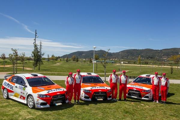mitsubishi repsol equipo rallyes cera