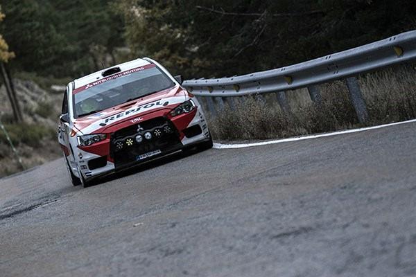 Cristian Garcia Rallye Madrid 2016 Mitsubishi