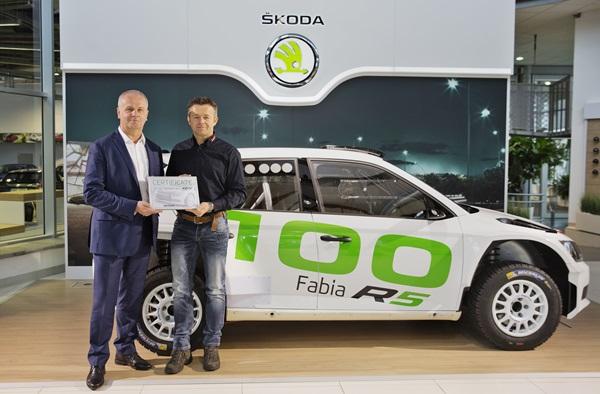 Skoda fabia R5 entrega 100 unidades
