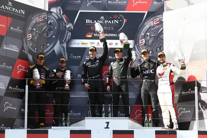Nurburgring podium blancpain gt tutumlu