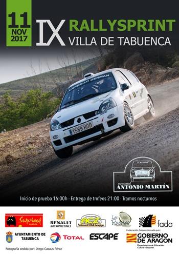 Cartel IX Rallysprint Villa de Tabuenca