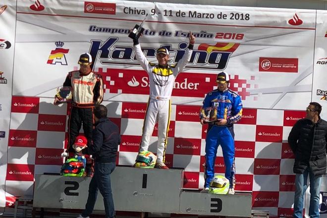 karting moya senior podio