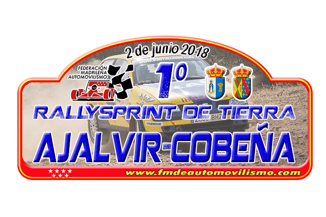 placa rallye ajalvir-cobena 2018