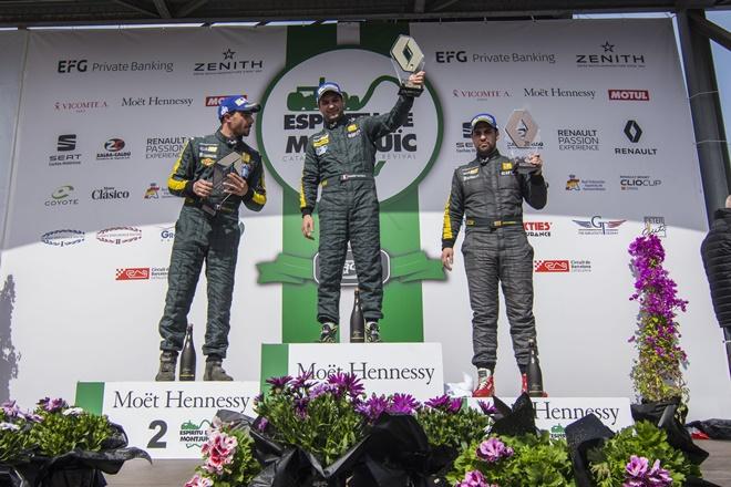 Clio Cup Barcelona podio