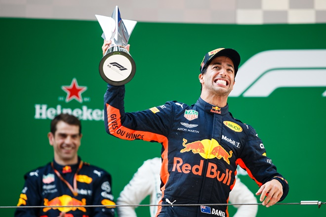 F1 GP China Ricciardo podio Red bull