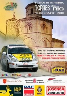 Cartel Rallye Torres del Río 2018