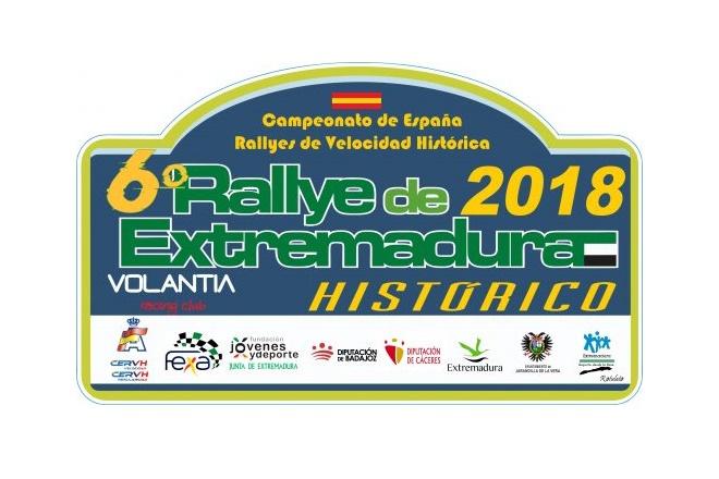 Placa Rallye Extremadura históricos 2018