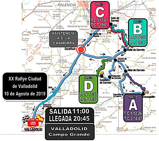 rallye valladolid 2019 mapa tramos