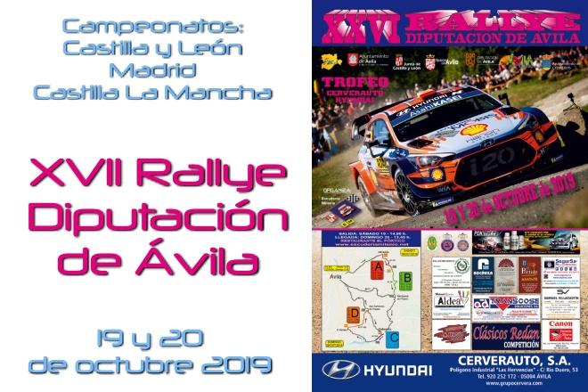 cartel rallye avila 2019