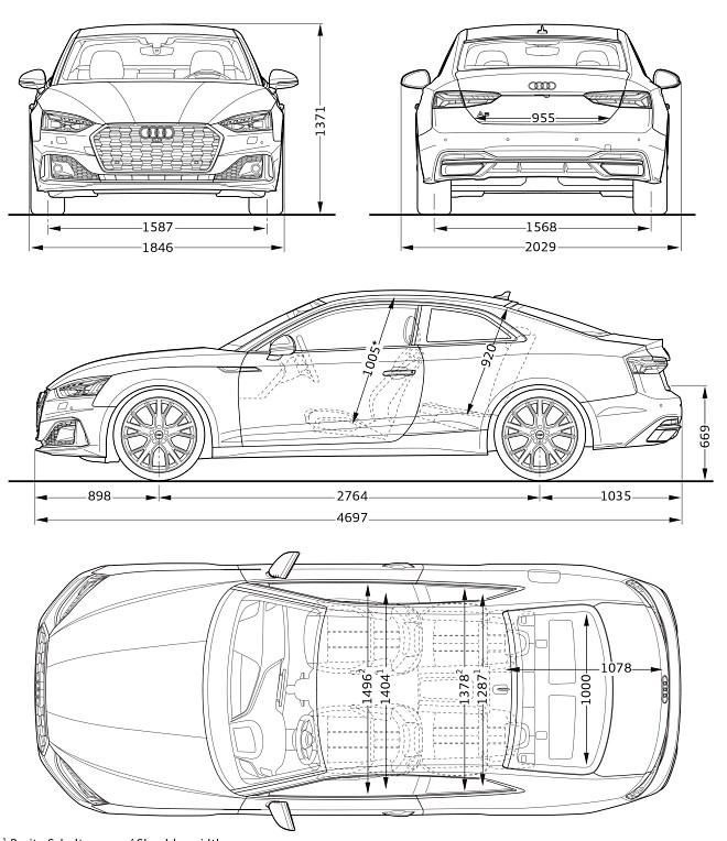 Audi A5 Coupé 2020 dimensiones