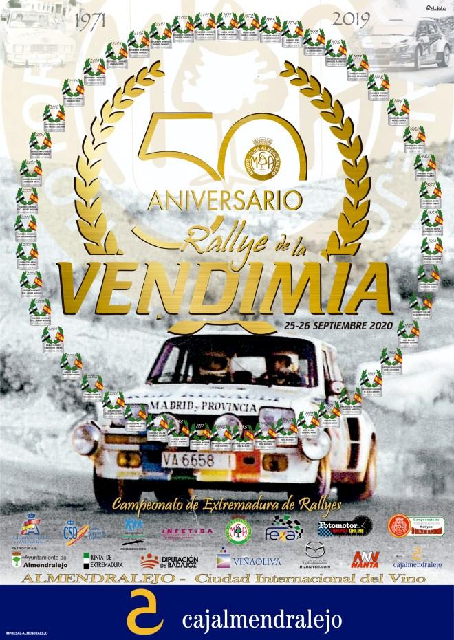 Rallye vendimia 2020 cartel 50 edicion