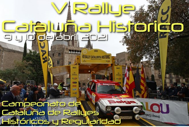 rallye cataluna histórico 2021 cartela