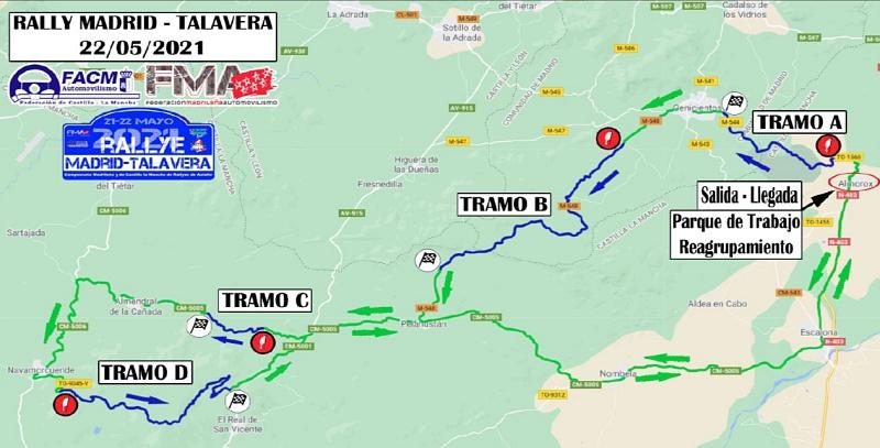 rallye talavera-madrid tramos 2021