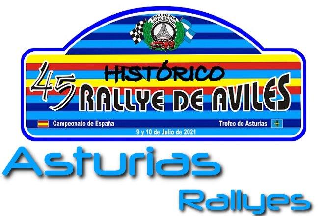 Rallye Aviles historico 2021 placa