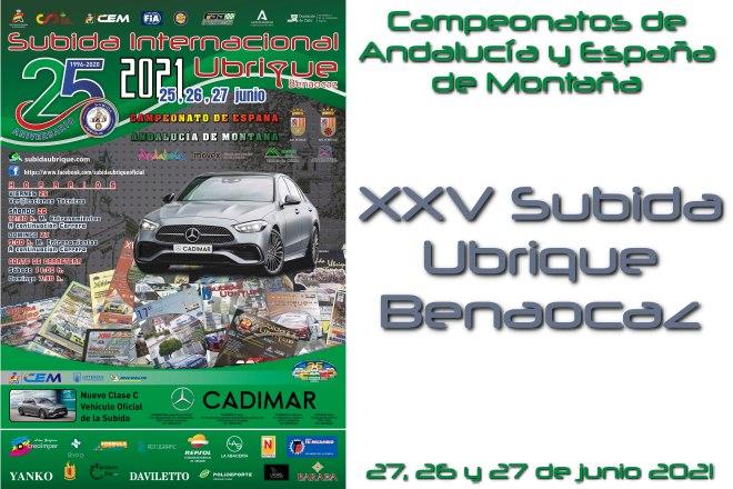 XXV Subida Ubrique 2021 cartel