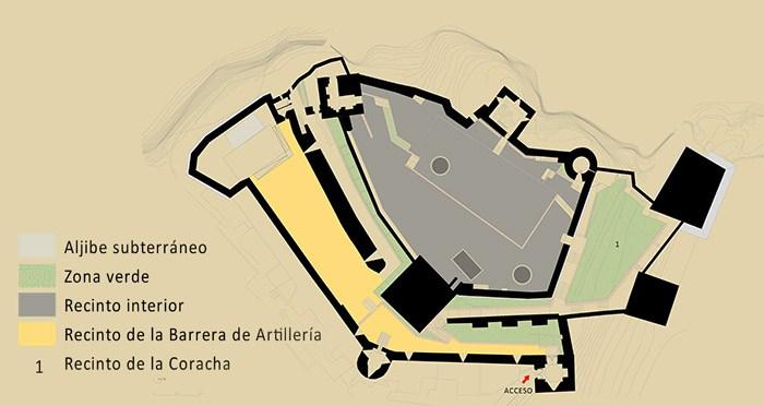 PLANO DEL CASTILLO DE SALOBREÑA