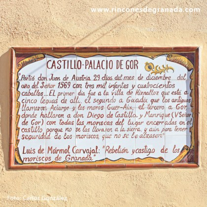 Cartela del Castillo - palacio de Gor