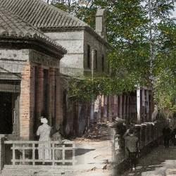 Ayer y hoy del Sanatorio Antituberculoso de La Alfaguara, en una misma imagen