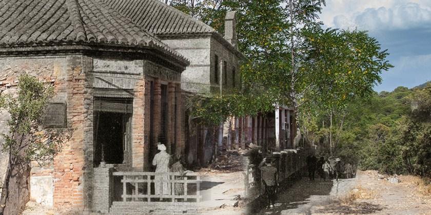 Ayer y hoy del Sanatorio para tuberculosos de La Alfaguara, en una misma imagen