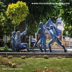 FUENTE MONUMENTO AL CASCAMORRAS – BAZA Realizada por el artista Augusto Moreno en 2011