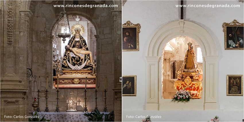 Camarín de Jesús (izquierda), camarín del Altar mayor ( derecha)