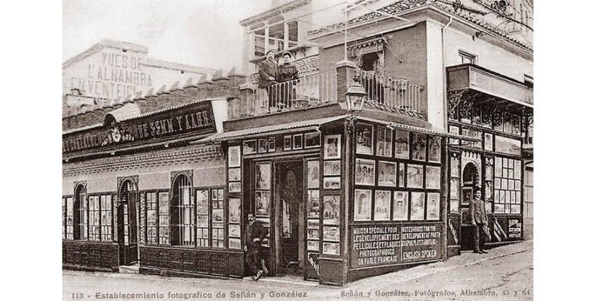 Postal publicitaria de la casa Señán de Granada- Fototipia postal.