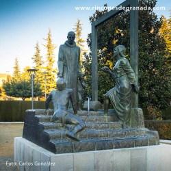 MONUMENTO A SAN JUAN DE DIOS Instalada en los Jardines del Triunfo