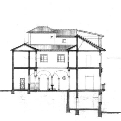corte transversal - Palacio de los Carvajal - Casa de los Condes de Arco