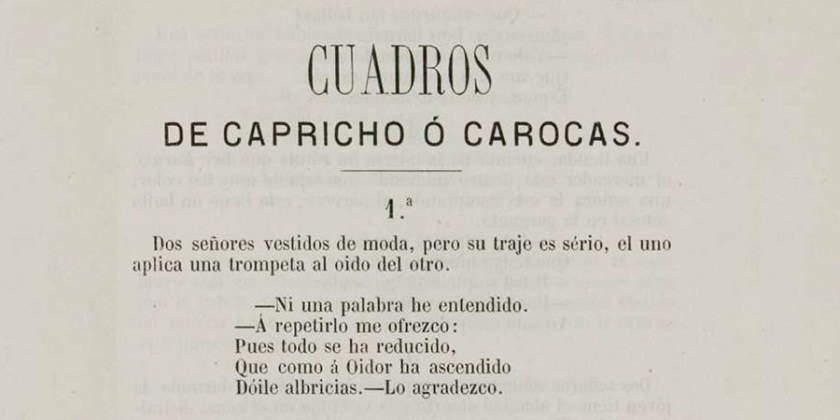 CUADROS DE CAPRICHO - CAROCAS 1867