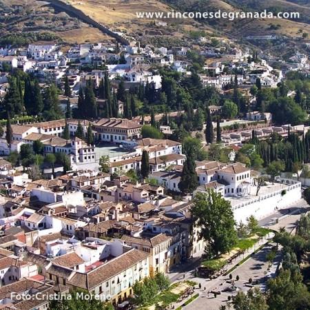Escuelas del Ave María desde la Alhambra