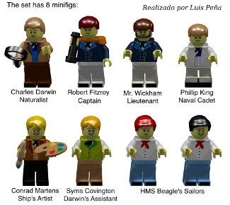 Lego Darwin Minifigures