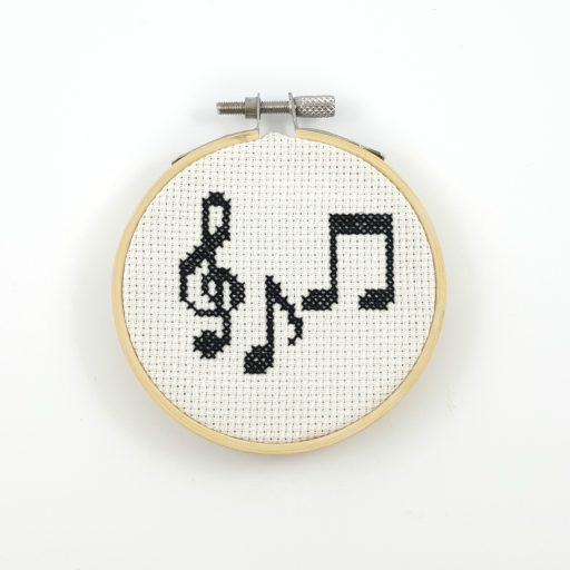 music note cross stitch pattern