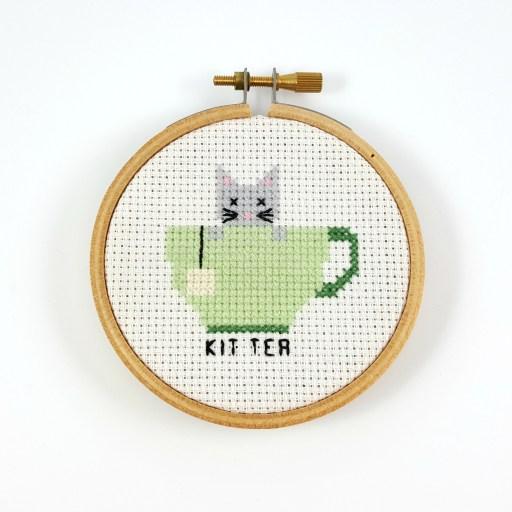 kit tea cross stitch pdf pattern