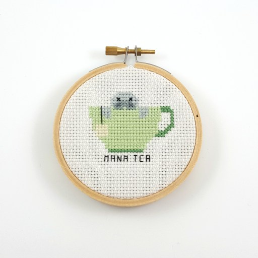 mana tea cross stitch pdf pattern