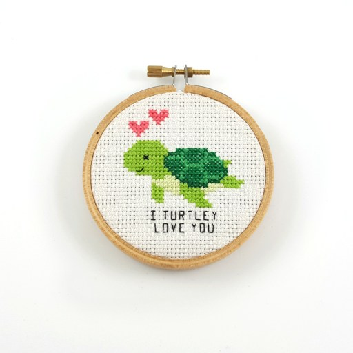 I turtley love you cross stitch pdf pattern